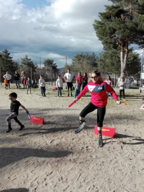 Charla sobre deporte y atletismo con el equipo paraolímpico español